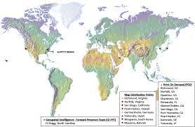 Pearl Harbor Map Geospatial Intelligence Forward Presence
