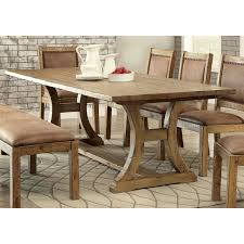 pine dining room set furniture of america matthias industrial rustic pine dining table