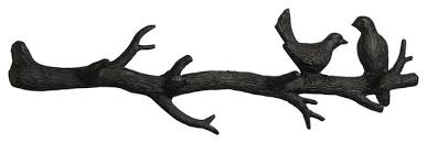 bird branch coat hook canyon bronze rustic wall hooks by