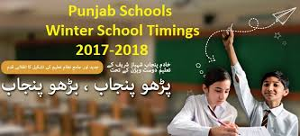 winter school timings schedule issued in punjab w e f 16 october