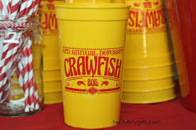 personalized crawfish trays personalized yellow stadium cups for lobster crawfish boil 22 oz