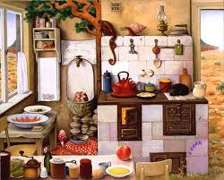 cuisine de grand mere grand mère cuisine 2 de jacek yerka tableaux de jacek yerka