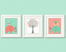 printable file aqua and grey nursery art print set baby boy