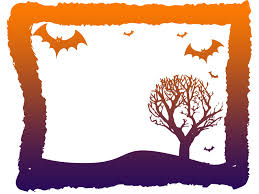 halloween frame design backgrounds for presentation ppt