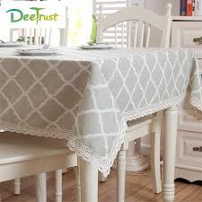 table rectangulaire cuisine pastorale motif moderne café couleur coton et dentelle table