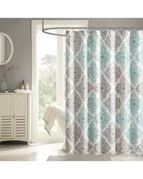 Aqua Blue Shower Curtains On Sale Now 10 The Curated Nomad Lyon Geometric Shower