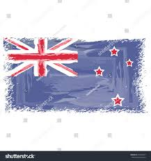 Nee Zealand Flag Flag New Zealand Watercolor New Zealand Stock Vector 418288477
