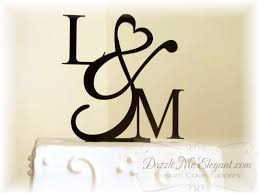 cake topper letters heart ampersand monogram cake topper wedding cake topper