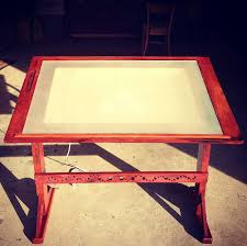Light Drafting Table Antique Inspired Drawing Table W Built In Lightbox