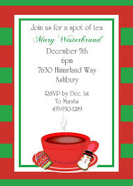 Invitation Card For Christmas Christmas Tea Party Invitations 2017