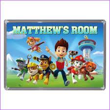 personalised paw patrol xl size bedroom door plaque u2013 key expressions
