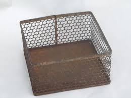 Metal Desk Organizer Early Industrial Machine Age Perforated Metal Desk Organizer Bin