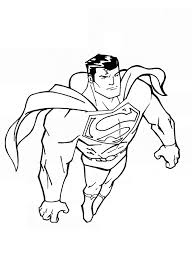 superman coloring pages kids printable superhero super