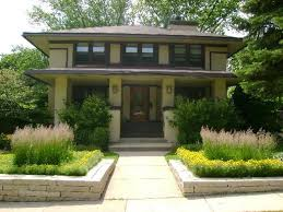 frank lloyd wright inspired home with lush landscaping 1911 prairie style in west chicago illinois oldhouses com
