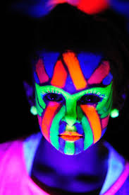 Blacklight Halloween Party Ideas by Black Light Face Paint Ideas Tags Biological Make Up Glow In