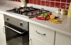 modern kitchen stove stove and oven in a modern kitchen stock photo picture and