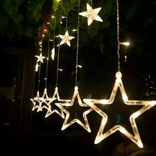 elegant power led curtain light 5 star styled for christmas party