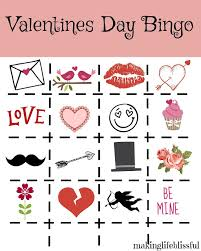 valentines bingo printable bingo and jokes blissful