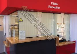 Reception Desk With Display Vertical Ope Security Screen Armour Shield