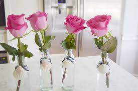 how to decorate vases repurposed bottles into bud vases gratefully vintage