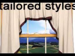 3 piece swags and valance curtain sets youtube