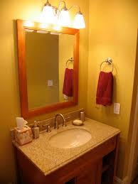 yellow wall paint ring handtowelshelf granite countertop mounted