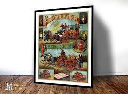 fire fighting supply ad vintage art print antique advertising
