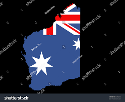 Map Of State by Map State Western Australia Australian Flag Stock Vector 3246206