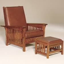 recliner armchair leather recliner amish solid wood reclining