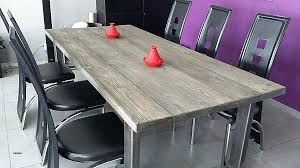 table cuisine en bois table bois et metal salle manger table salle a manger metal et bois