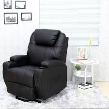 Leather Recliner Chair Uk Cinemo Elecrtic Rise Recliner Leather Massage Heat Armchair Sofa
