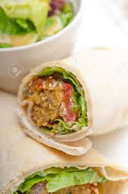arab wrap falafel pita bread roll wrap sandwich traditional arab middle