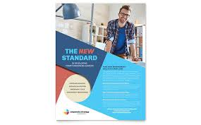 design flyer layout corporate strategy flyer template design