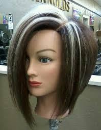 highlights for inverted bob blond highlights dark hair colorsync rb asymmetrical inverted bob