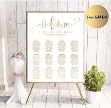 Wedding Seat Chart Template Gold Wedding Seating Chart Template Printable Seating Chart