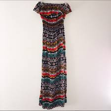 multicolor tribal maxi dress made in india tribal maxi dresses
