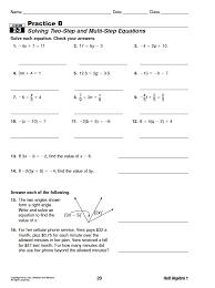 holt mcdougal coordinate algebra answer key equations 28 images