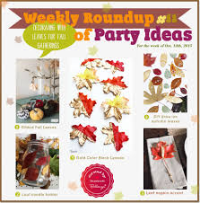 Decorating With Fall Leaves - weekly roundup 11 decorating with leaves for fall gatherings