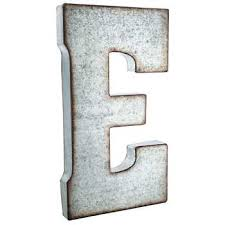 Letter Wall Decor Galvanized Metal Letter Wall Decor E Hobby Lobby 138541