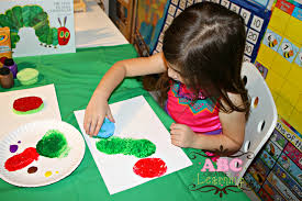 the very hungry caterpillar paint craft