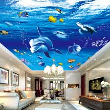 compare prices on underwater ocean photos online shopping buy low underwater world blue deep ocean cartoon shark photo mural living room bedroom ceiling wall decor non