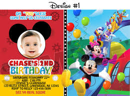 mickey mouse clubhouse 1st birthday invitations reduxsquad com