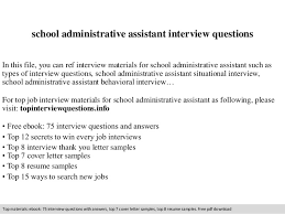 Administrative Assistant Job Resume by Administrative Assistant Interview Questions
