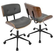 Height Adjustable Chair Lumisource Lombardi Height Adjustable Office Mid Century Modern