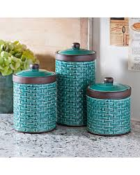 blue kitchen canister shopping sales on blue woven kitchen canisters set of 3