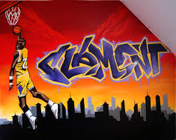 prix graffiti chambre graff basket decograffik deco et graff sur mesure pour entreprise