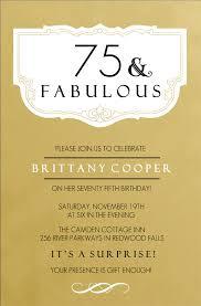 birthday invites astonishing 75th birthday party invitations