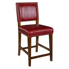 Red Bar Stools With Backs Flash Furniture 29 5 In Hercules Wood Ladder Back Wood Seat