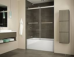 Fleurco Shower Door Fleurco Gemini 57 To 60 W X 60 H Bypass Plus Tub Enclosure