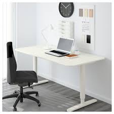 Office Table Desk Bekant Desk Sit Stand Black Brown White Ikea